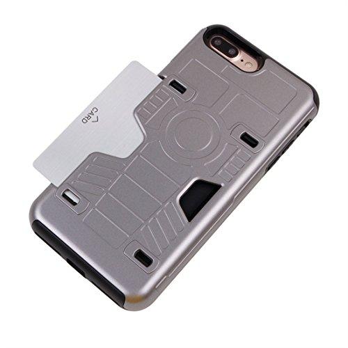 iPhone Case Cover Pour iPhone 7 Plus champion de boxe Gold Belt résistant aux chocs TPU + PC combinaison cas avec slot pour carte ( Color : Gold ) Grey