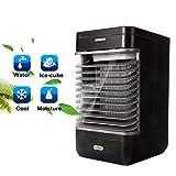 Volwco Tragbarer Luftkühler, 3 In 1 Tragbare Mini-Klimaanlage, Luftbefeuchter Und Luftreiniger Mit 2 Geschwindigkeiten Für Schnelles Kühles Home-Office-Schreibtisch-Schlafzimmer Im Freien