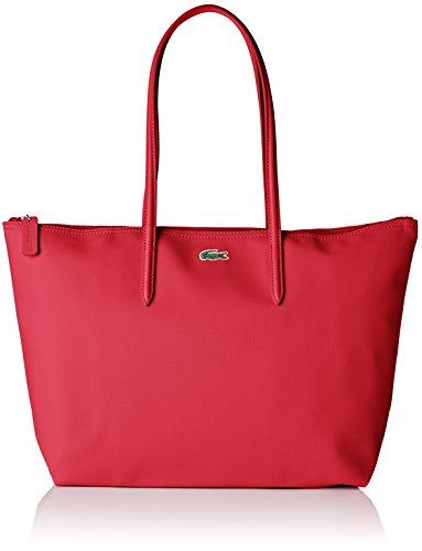 Lacoste Cabas Toile PVC, Sac Bandouliere Femme, Rose (Rose Virtual Pink), 14x29.5x35 cm (W x H x L)