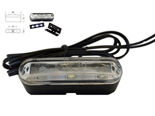 LED Kennzeichenbeleuchtung - Standlicht - E-geprüft - 3 LEDs - 12V - 0.2W / 0.5W - für Motorrad -Moped - Roller - Mofa - Quad