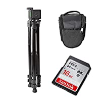Light Weight Tripod, SanDisk Ultra SDHC 16GB Memory Card, and Carry Case