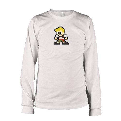 TEXLAB - Pixel Island - Langarm T-Shirt Weiß