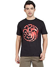 Redwolf Fire And Blood HBO® Licensed Game Of Thrones Half Sleeve Cotton T-shirt
