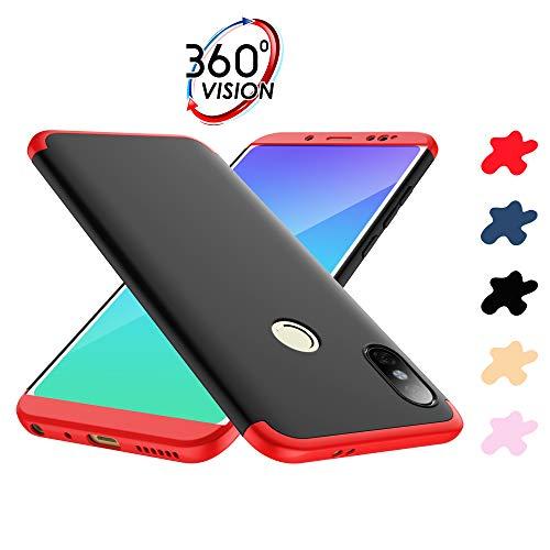 ERLI Xiaomi Redmi Note 5 pro Hülle, 360 Grad ganzkörper Schutz DREI in eins Telefon Kasten, Fünf Farbschemata zu Einer Zeit (Rot, Schwarz, Blau, Gold, Roségold)