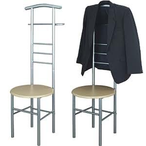 Herrendiener, Stummer Diener, Kleiderbutler, Kleiderablage, Kleiderständer, Herrendienerstuhl, Metall Stuhl mit Kleiderbutler