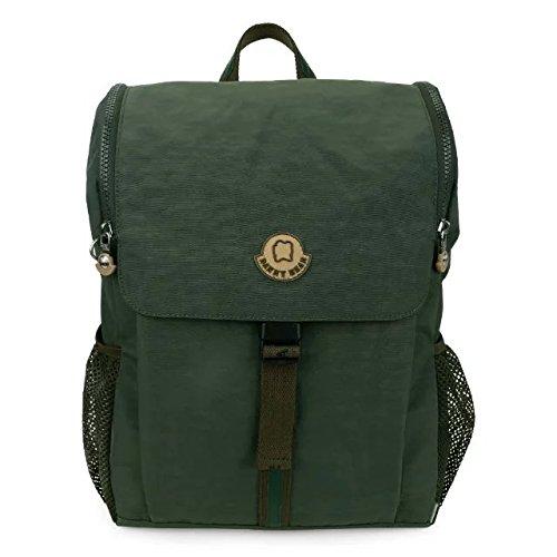 Danny Bear style américain Casual Waterproof School sac à dos sac à dos Vert Foncé