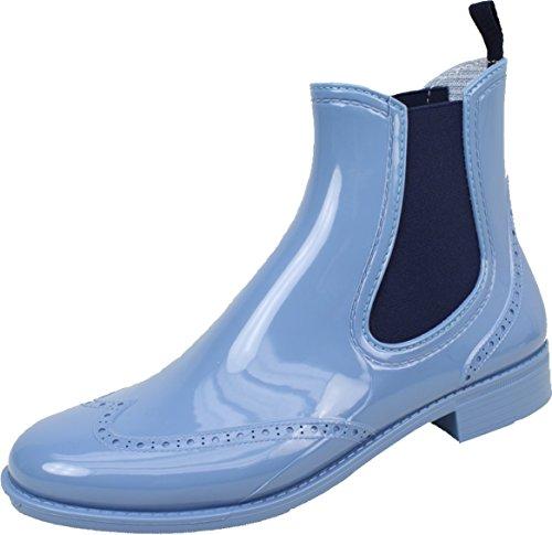 BOCKSTIEGEL® CHELSEA Donna - Mezzo Stivali di gomma alla moda | Chelsea Boots | Impermeabile | Moda | Design esclusivo Light blue / DK - Blue