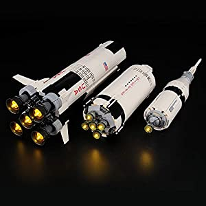 LIGHTAILING Set di Luci per (Ideas NASA Apollo Saturn-V) Modello da Costruire - Kit Luce LED Compatibile con Lego 21309…  LEGO