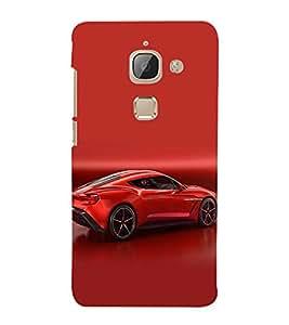 FUSON Sports Car In Red 3D Hard Polycarbonate Designer Back Case Cover for LeEco Le 2s :: LeEco Le 2 Pro :: LeTV 2 Pro :: Letv 2 :: LeEco Le 2