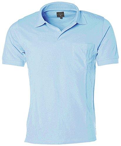 Kitaro Herren Poloshirt Polo Shirt Sky
