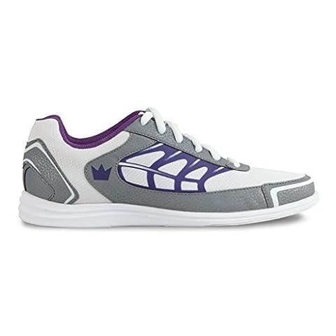 Brunswick Damen Eclipse Bowling shoes- weiß/silber/lila, damen, White/Silver/Purple