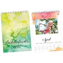 Bastelkalender Fotokalender Watercolor 2017 Junge Mädchen Geschenk