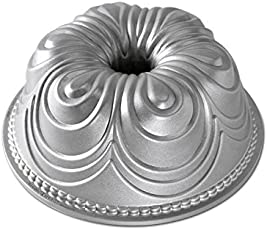 NordicWare Motivbackform Chiffon Bundt, Aluminium, Silber, 24,8 x 24,8 x 9,5 cm, 1 Einheiten