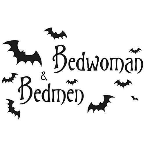 Wadeco Bedman Wandtattoo Wandsticker Wandaufkleber 35 Farben verschiedene Größen, 160cm x 104cm, braun