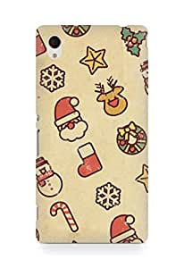 Amez designer printed 3d premium high quality back case cover for Sony Xperia M4 (Vintage Christmas)