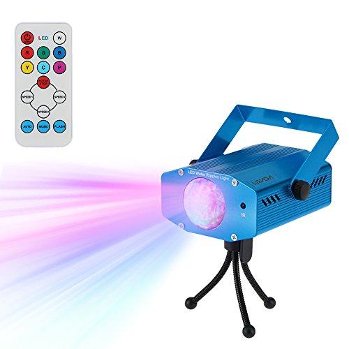 Lixada Disco Lichteffekte, Disco Licht mit Fernbedienung und Musikgesteuert 9W Bühnenbeleuchtung DJ Partylicht mit Farbwechsel und ()