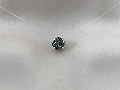 Collier ras du cou strass de swarovski cristal gris anthracite fil de nylon transparent