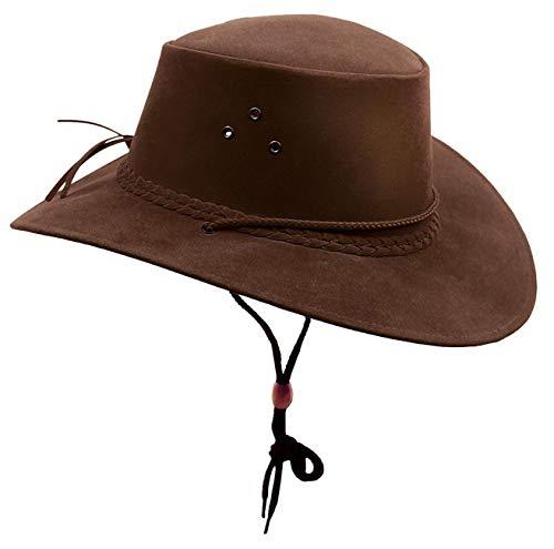 Kakadu Australia Damen Herren Sommerhut aus Mikrofaser mit breiter Krempe und Kinnband - Kinnband Hut