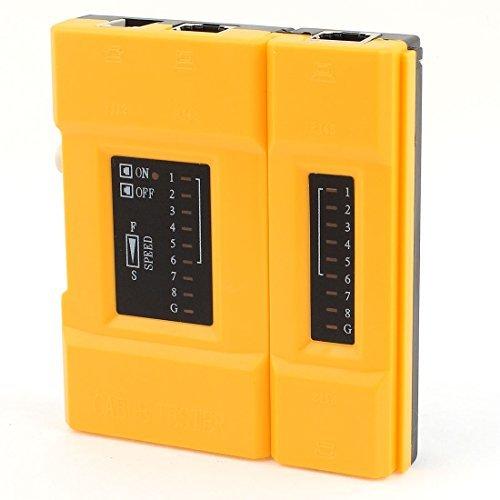 RJ45 RJ12 Telefon-LAN-Ethernet-Netzwerk-Kabel-Prüfvorrichtung-Werkzeug Orange Schwarz -