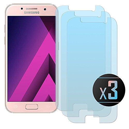 Cardana | 3X bruchsicheres Schutzglas für Samsung Galaxy A3 2017 | Schutzfolie aus 9H Echt Glas | angenehme Handhabung| Schutzglas zum Schutz vor Bildschirmschäden | blasenfreie Anbringung | 3 Stück...