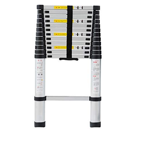 Teleskopleiter-Aluminiumlegierung, die einseitige gerade Leiter faltet, die rutschfeste Loft-InnenSicherheitsleiter im Freien faltend V (größe : 440cm)