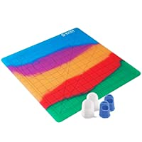 Colorful 3D Pen Mat Silicone Design Mat kit with 4 Silicone Finger Caps, 3D Printing Pen mat with Basic Template, Drawing Tools 3D Pen Accessory Drawing Mat for Kid Adults Artist MKOEM