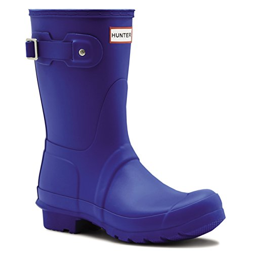 Damen Hunter Original Short Winter Schnee Wasserdicht Gummi Stiefel EU 36-43 (Hunter Stiefel Frauen Kurze Blau)