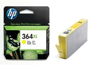 HP 364XL Cartouche d'Encre Jaune Grande Capacité Authentique