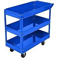 Werkstattwagen, Werkzeugwagen mit 3 Ladeflächen Humberg HR-804 blau