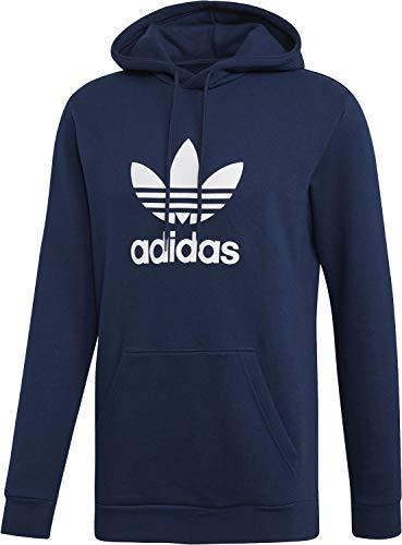 adidas Herren Trefoil Hoodie Sweatshirt, Collegiate Navy/White, L