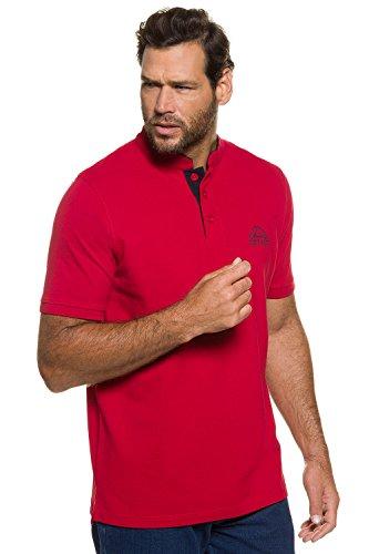 JP 1880 Herren große Größen bis 7XL | Piqué Polloshirt | Kurzarm | REINE Baumwolle | Regular Fit | 708427 Rot