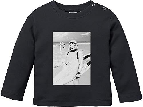 EZYshirt® Stormtrooper Baby T-Shirt Langarm Bio Baumwolle