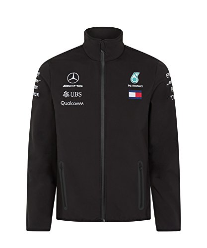Mercedes AMG F1 Team Soft Shell Jacke Schwarz Offiziell 2018