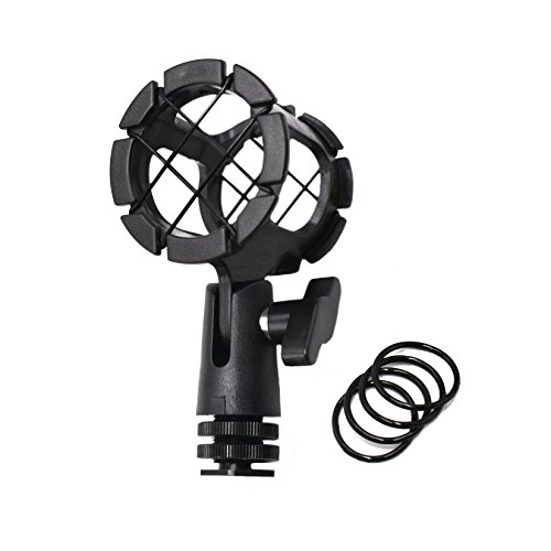 Shotgun Ntg2 Mic (Zhiyou Microhone Shock Mount Holder Rode Mic Cradle with Cold Shoe for Boompoles, Rode NTG1, NTG2, NTG3, Sennheiser ME66, Audio-Technica AT897 etc)