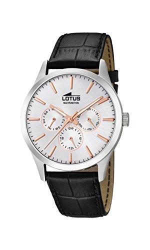 Lotus Watches Reloj Multiesfera para Hombre de Cuarzo con Correa en Cuero 18576/1