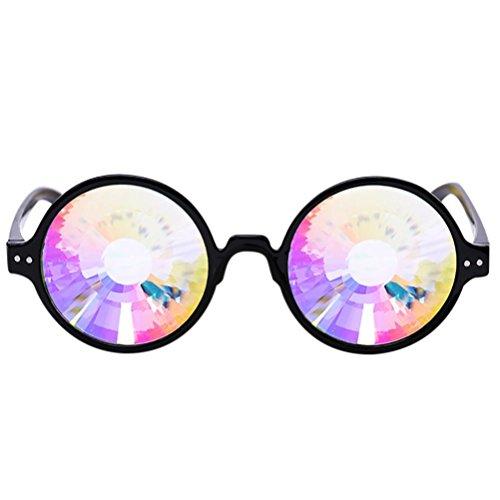 Kaleidoskop Brille Rave Festival Party EDM Sonnenbrille Linse Von Xinan (♣, D)