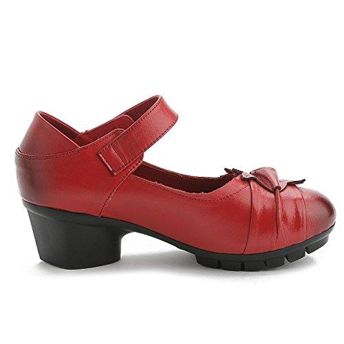 L@YC Frauen Kunstleder Büro & Karriere Kleid Casual Chunky High Heel Andere / Rot / Braun / Schwarz Red