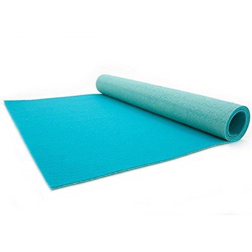 Primaflor - Ideen in Textil Türkiser Teppichläufer 1m x 1m - Hochzeitsläufer - VIP Eventteppich - 2,6mm Höhe