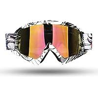 Fodsport Gafas de moto Gafas crossed Gafas ciclismo Gafas Protección Mascara para Moto Motocross Esqui Deporte Ajustable (Multicolor B)