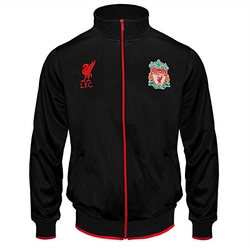 Liverpool F.C. Liverpool FC Official Football Gift Mens Retro Track Top Jacket Black Large