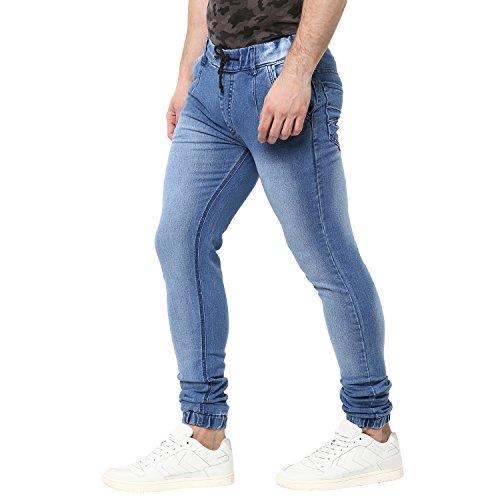 5ffafda7f7c ... Urbano Fashion Men s Light Blue Slim Fit Stretch Jogger Jeans  (jog-hps-lblue ...