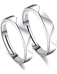 4af01e134 dc jewels Sterling Silver Zirconia Couple Rings for Men and Women