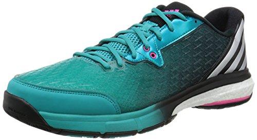 adidas Damen Volleyballschuhe Energy Boost 2.0 shock green s16/matte silver/shock pink s16 44