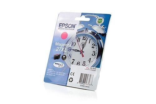 Preisvergleich Produktbild Original Tinte passend für Epson WorkForce WF-7110 DTW Epson 27 , 27XL , T27134010 C13T27134010 , T2713 , T271340 - Premium Drucker-Patrone - Magenta - 1.100 Seiten - 10,4 ml