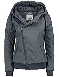 Sublevel Damen Winter Jacke mit Kapuze Übergangsjacke - warm gefüttert S-3XL