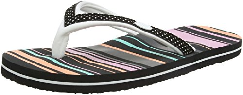 Animal Swish Slim Upper Aop, Sandali Donna, Black Multicolore (Multicolour)