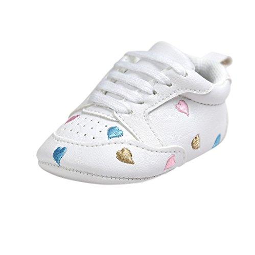 Baby Schuhe Auxma Für 0-18 Monate,Baby-Mädchen-nette Kleinkind-weiche alleinige lederne Schuhe (11cm(0-6M), Bunt)