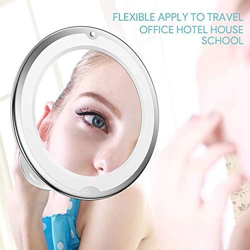 Yaoaomon 10X Kosmetikspiegel mit LED-Licht Kosmetikspiegel leuchten weiß -