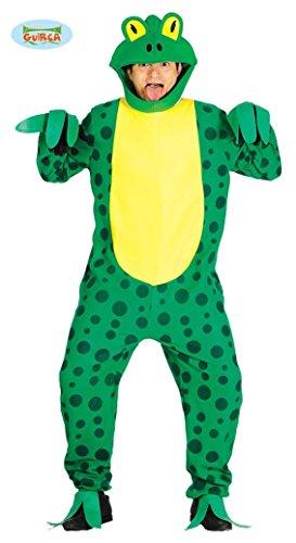Froschkostüm für Erwachsene Herren Damen grün Frosch Herrenkostüm Gr. M/L, (Kostüme Sumpf Halloween)