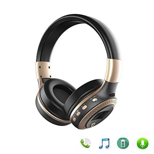 Auveach Headset Hi-Fi Cuffie Antirumore Stereo FM Wireless Bluetooth 4.1 Auricolari Microfono SD Scheda Lettore con LCD Schermo